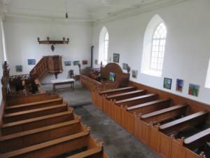 De expositie in de kerk..